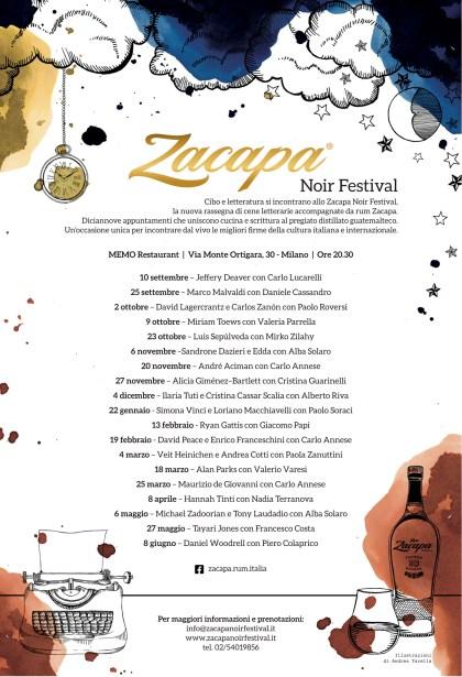 Locandina Zacapa Noir Festival