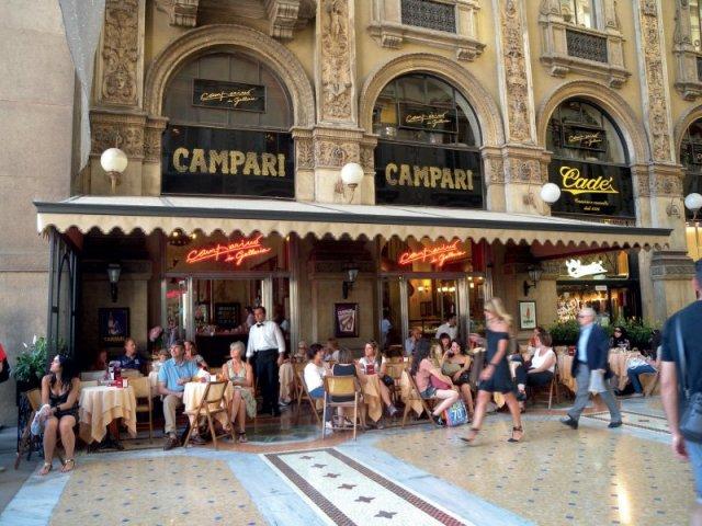 Милан, кафе Кампари