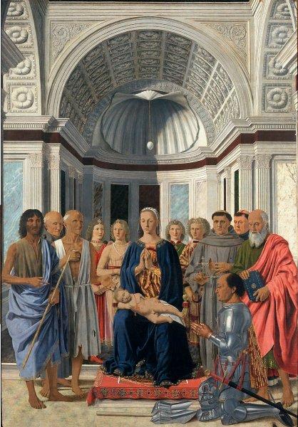 «Алтарь Монтефельтро» Пьеро делла Франческа.