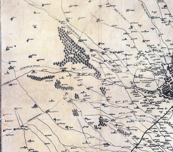 карта окрестностей Милана