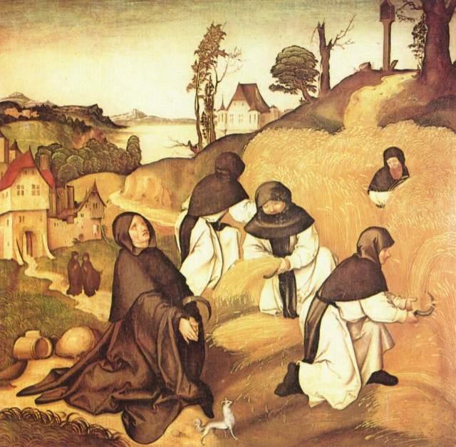 цистерцианские монахи за работой