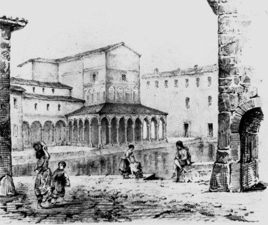 Санта-Мария-алла-Фонтана, рисунок XVIII века