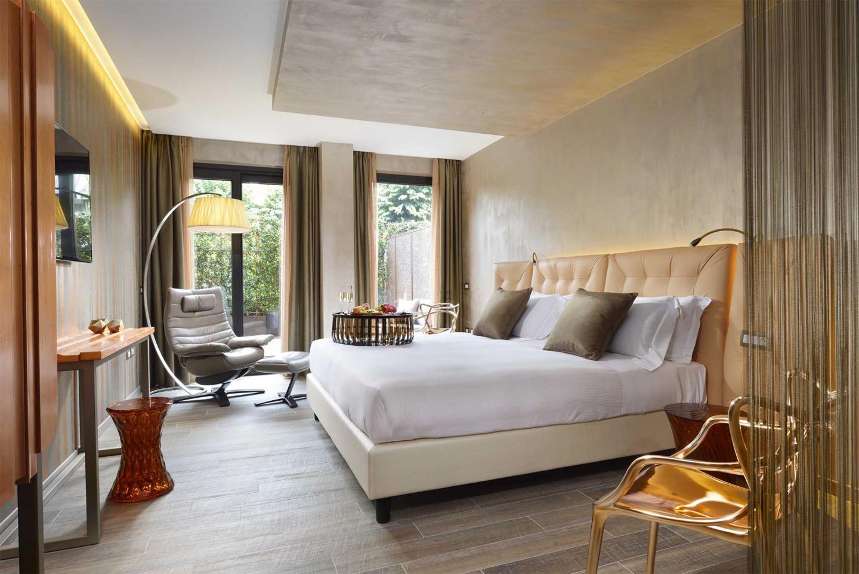 Uniche ed esclusive, all'altezza di una zona notte dal grande fascino. Milan Suite Hotel Hotel 4 Stelle A Milano Planetaria Hotels