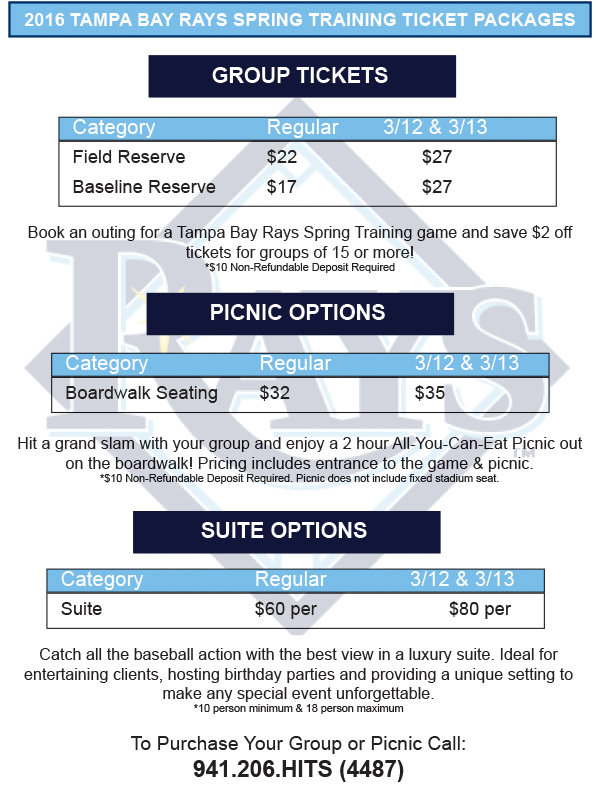 Twins Spring Training Packages