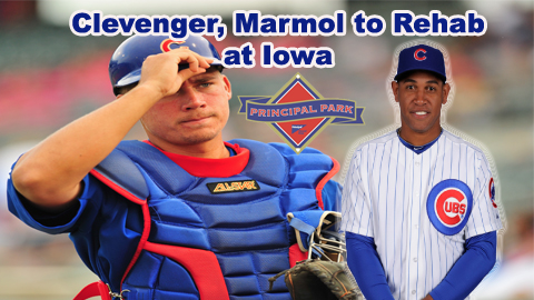 Steve Clevenger and Carlos Marmol join the Iowa Cubs on rehab assignments from Chicago.