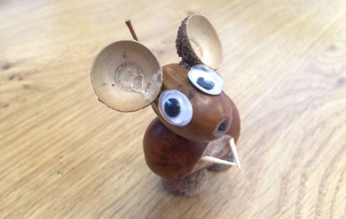 Bastelideen für den Herbst - Maus