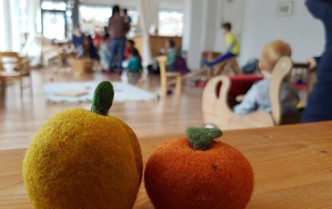 Kindercafé Sonnenkind - Obst aus Filz