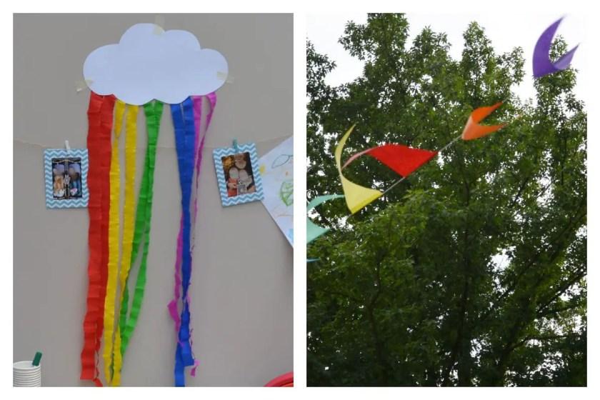 Regenbogen Deko DIY Wolke