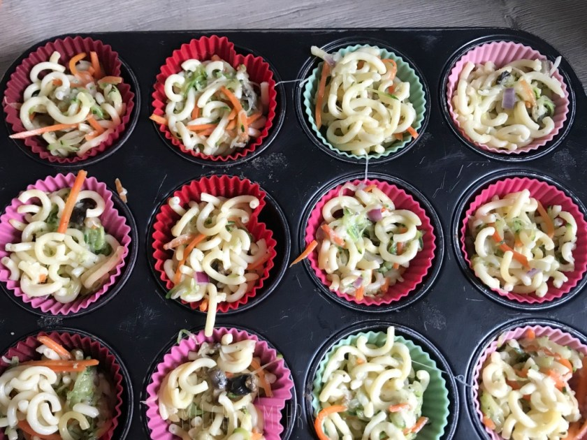 Spaghetti Muffins Rezept fuer Kinder