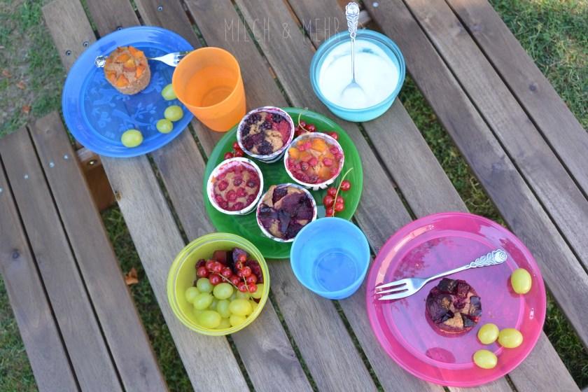 Gartenpicknick mit nip Kindergeschirr