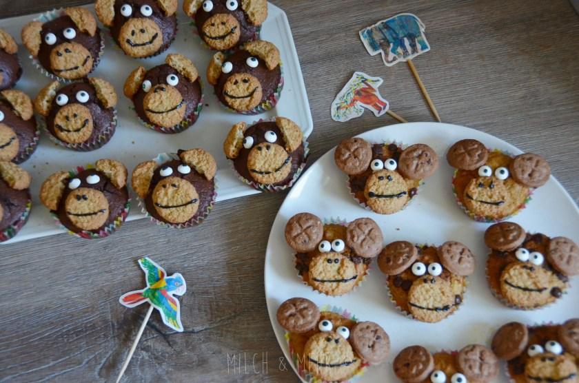 Muffins fuer Tier Safari Kindergeburtstag