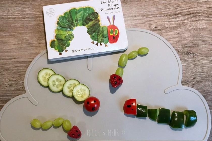 Raupe Nimmersatt Snacks aus Obst und Gemuese