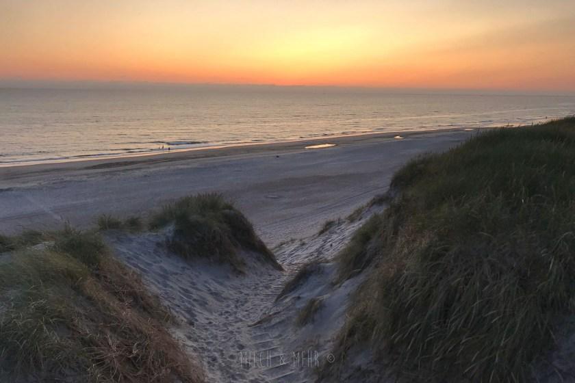 Hvide Sande Ferienhaus Sonnenuntergang