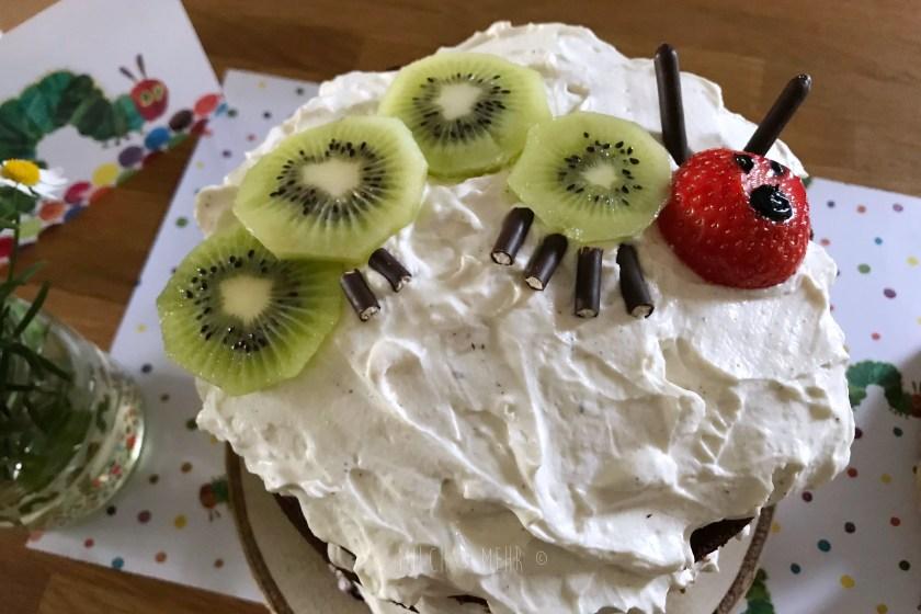 Raupe Nimmersatt Naked Cake