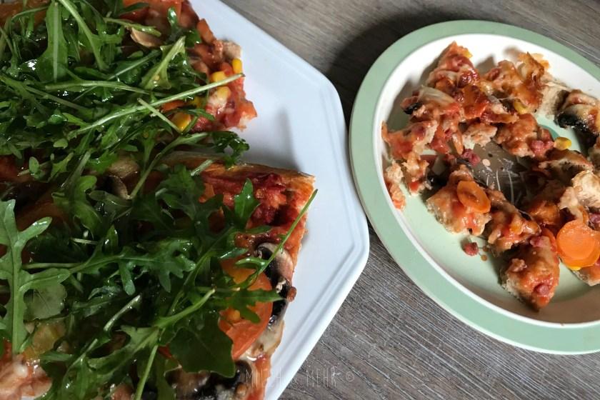 WIB #kw43 Pizza mit Rucola Mittagessen