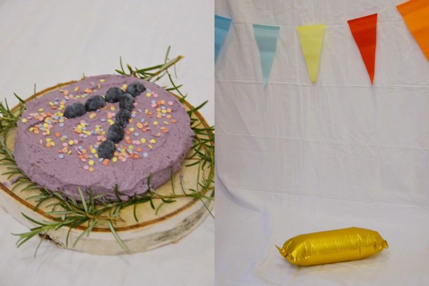 improvisiertes Cake Smash Shooting zu Hause