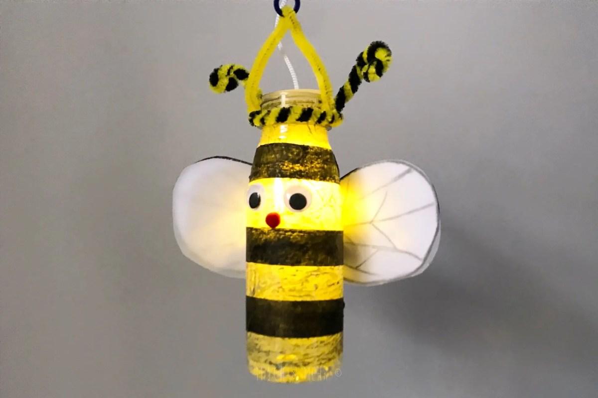 Bienenlaterne selbst basteln einfache Anleitung