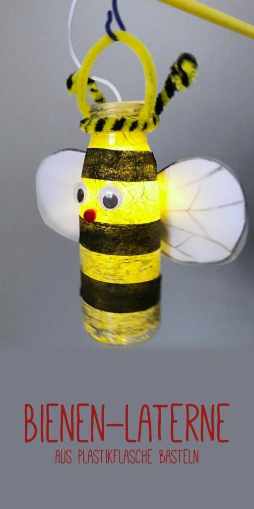 DIY Bienen Laterne Basteln aus Plastikflasche