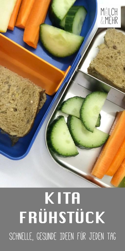 Kindergarten Fruehstueck Brotdose gesunde Ideen