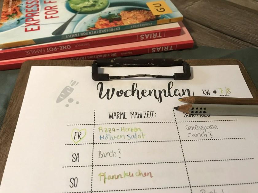 Meal Prep Wochenplan zum Ausdrucken