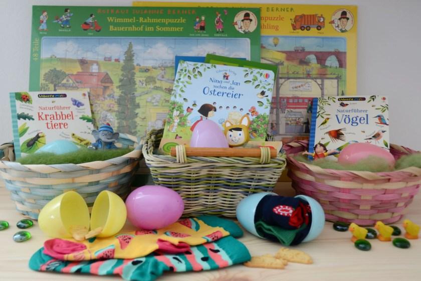 Osterkoerbchen Geschenkideen fuer Kinder