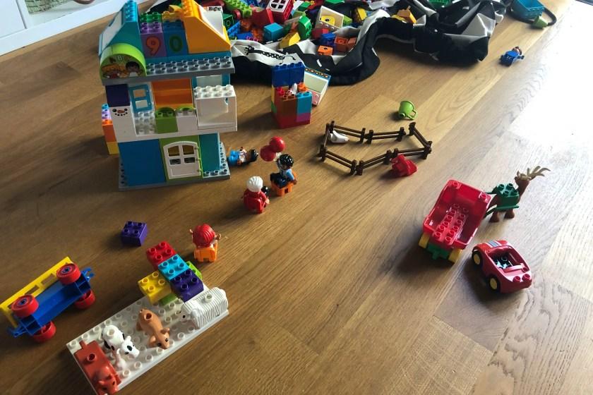 Lego Duplo Bauernhof ganz alleine gebaut