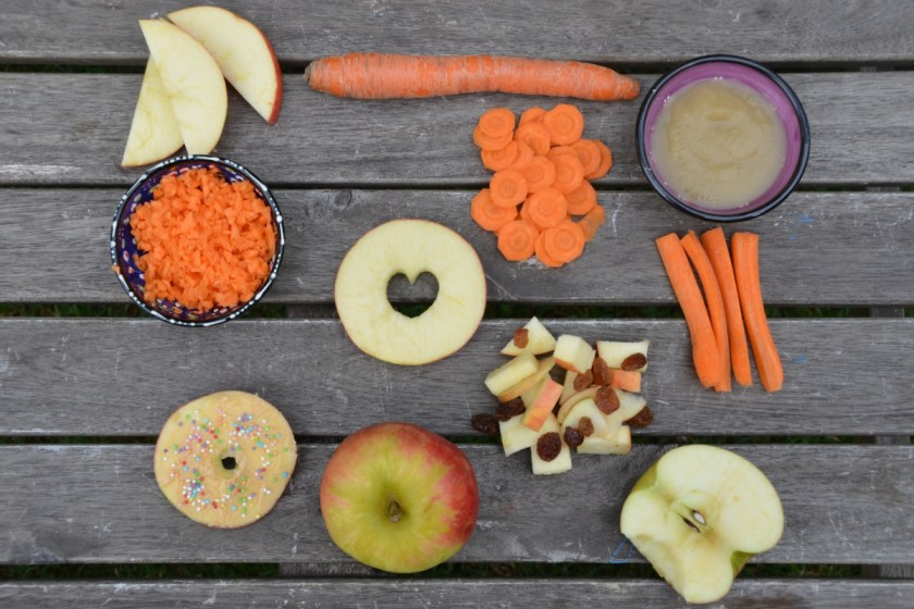 Apfel und Moehre fuer Kinder zubereiten
