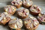 Rhabarber Vollkorn Muffins