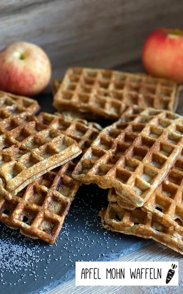 Apfel Mohn Waffeln Rezept