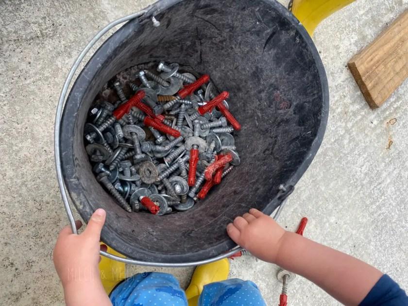 Baustelle mit Kind
