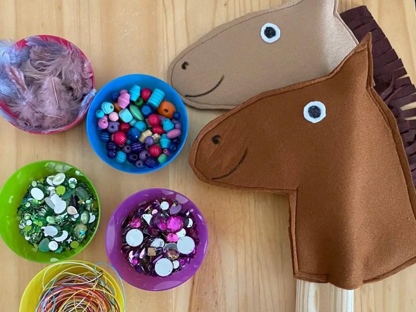 Pferde Kindergeburtstag Bastelidee
