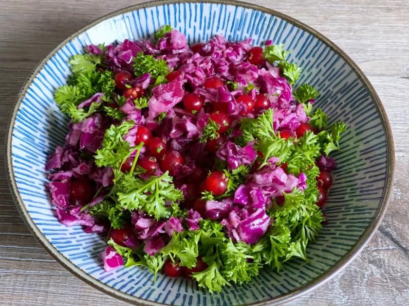 Rotkohl Salat Johannisbeeren
