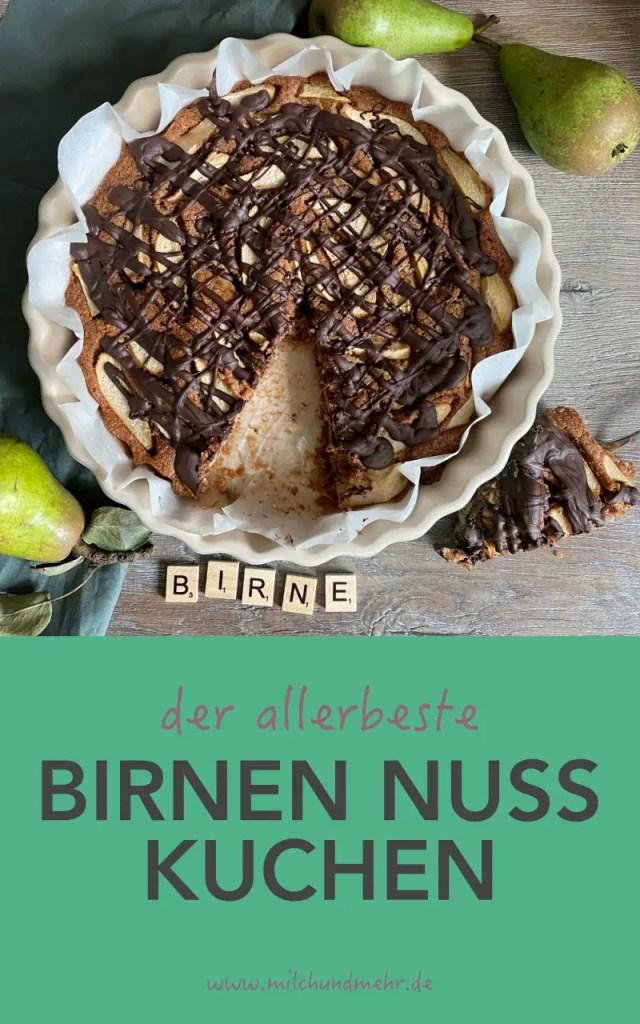 Birnen Nuss Kuchen