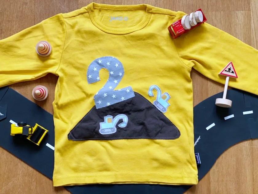 Baustellen Geburtstagsshirt selbstgemacht