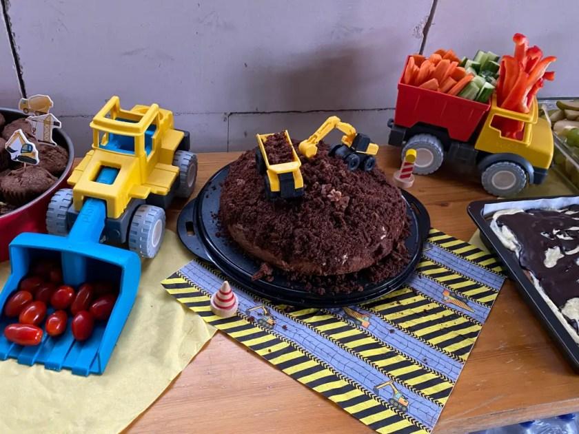Baustellen Party Kuchenbuffet
