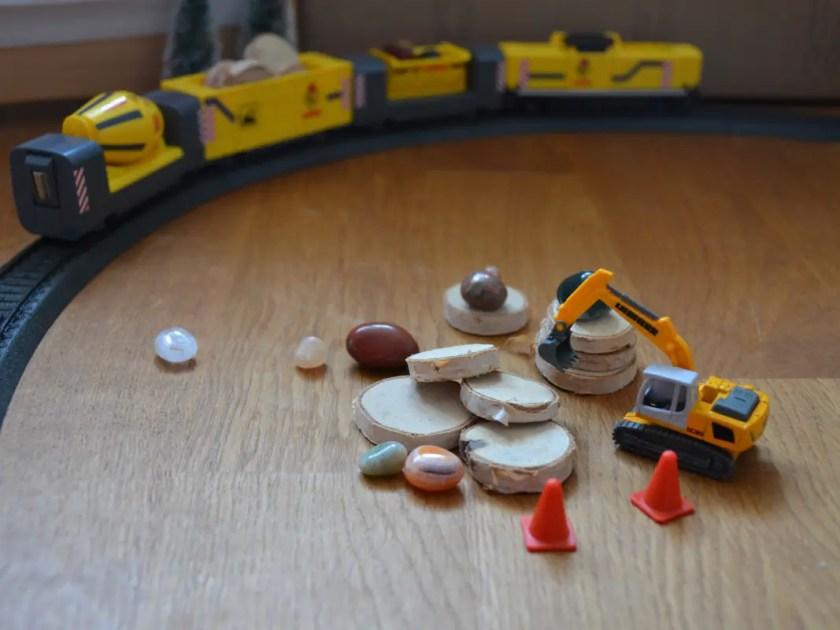 Elektrische Eisenbahn Kleinkind