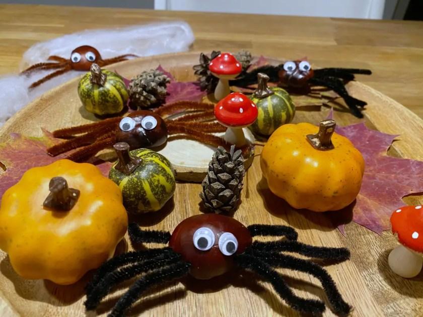 Kastanien Spinnen Pfeifenreiniger
