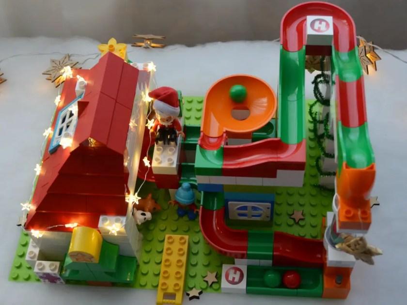 Kugelbahn Weihnachten Hubelino