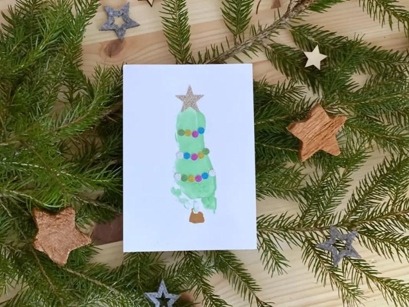 Fußabdruck Weihnachtsbaum