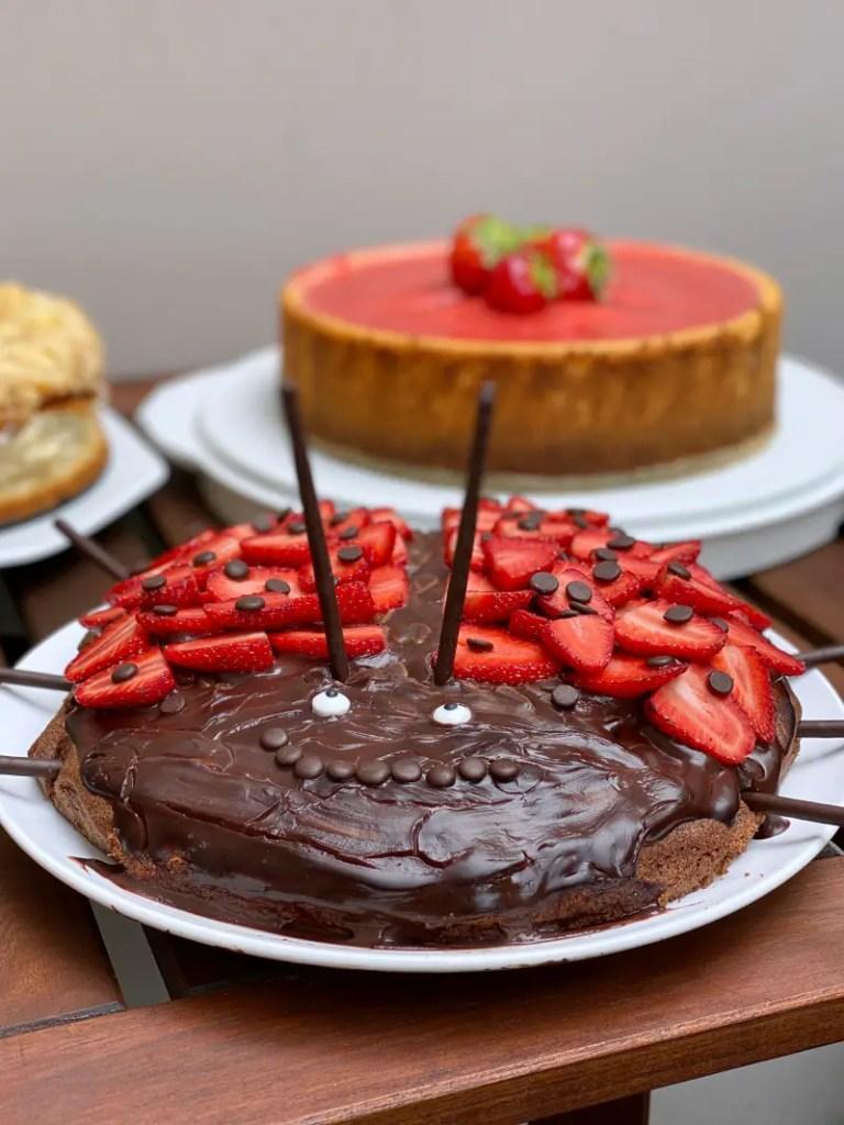 Marienkaefer-Kuchen Schokolade