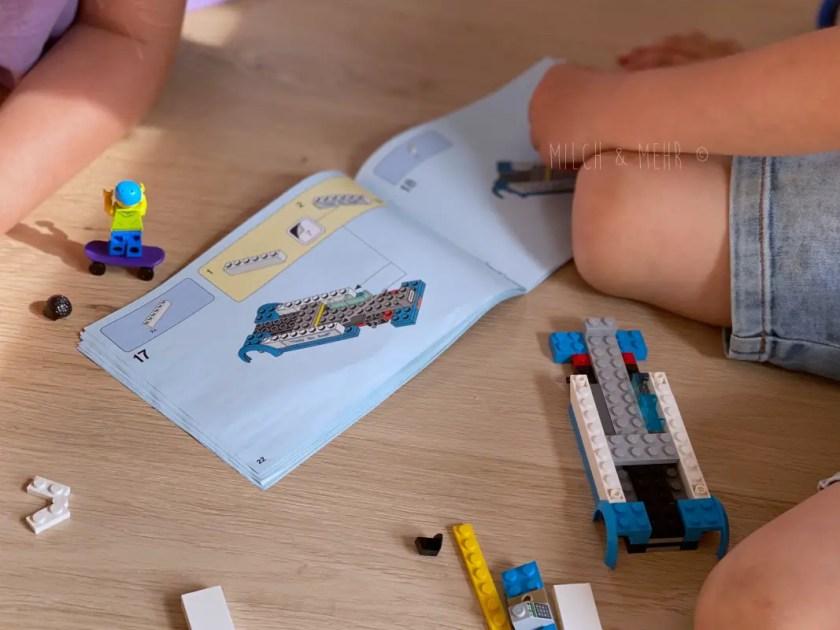 Lego nach Anleitung Bauen mit fuenf