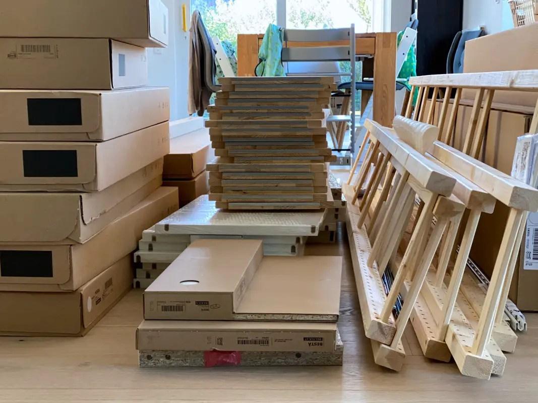 Wohnzimmer voller Ikea