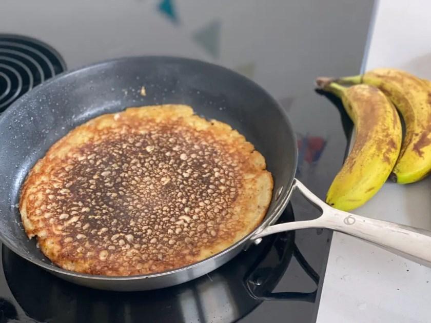 Bananen Pancakes Hirsemehl