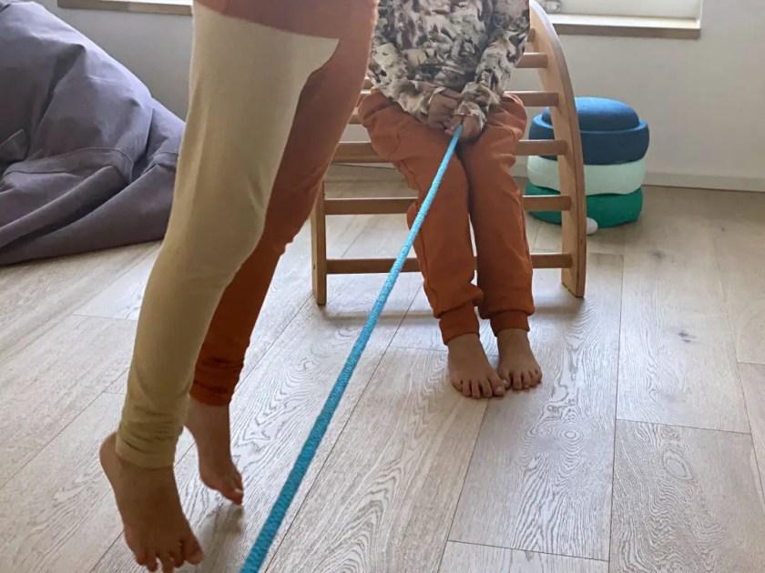 Bewegungsspiele mit Seil