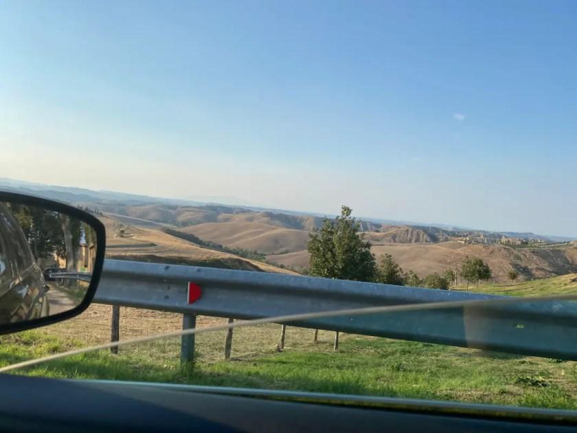 Toskana Landschaft Spaetsommer