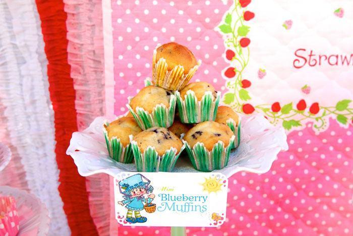 festa da moranguinho muffins