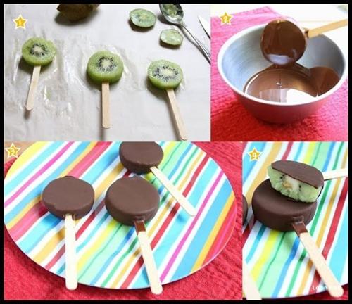 picolé kiwi e chocolate
