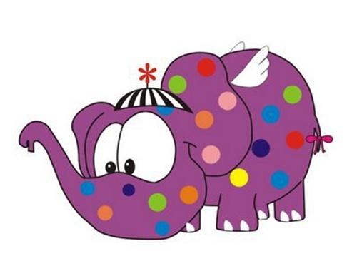 elefante colorido
