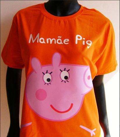 Camiseta da Mamãe Pig