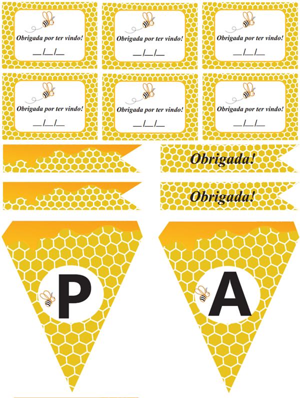 festa abelha para imprimir